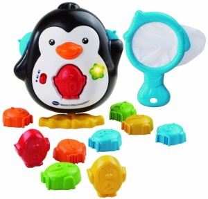penguin bath time toy