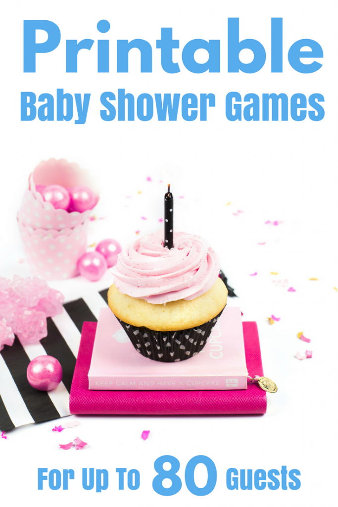 Printable baby shower games. PERFECT for last minute baby shower games! These printable baby shower games can be played with up to 80 guests. This printable can be downloaded immediately. Easy to print & easy to play! Ideal for LARGE baby showers. These FUN baby shower games will keep your party moving - great for ice breakers or just a good laugh. http://www.momresource.com/free-printable-baby-shower-bingo