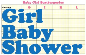 girl free baby shower game