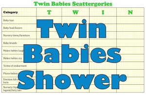 free printable baby shower game for twins will help you plan your baby