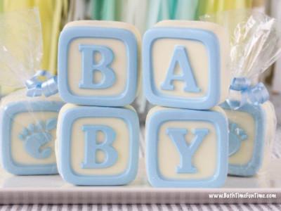 baby block cookies