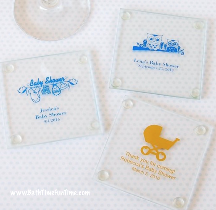 For unique baby shower favors, these are thoughtful keepsakes. These baby shower favors double as baby shower party decorations too! The best part? You can completely design them with baby shower themed wording, colors & pictures. It'll be a baby shower favor no one will forget! Come see this & more baby shower ideas here: www.bathtimefuntime.com/baby-shower-favors/