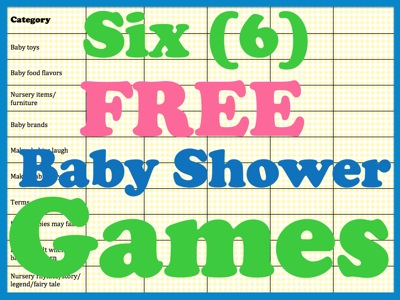 free printable baby shower games fun free