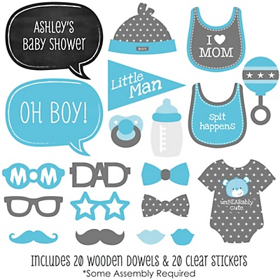 large-baby-shower-Photo-Booth-Props-Kit
