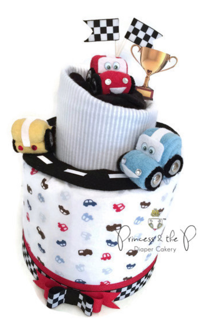 baby shower cars diaper cake