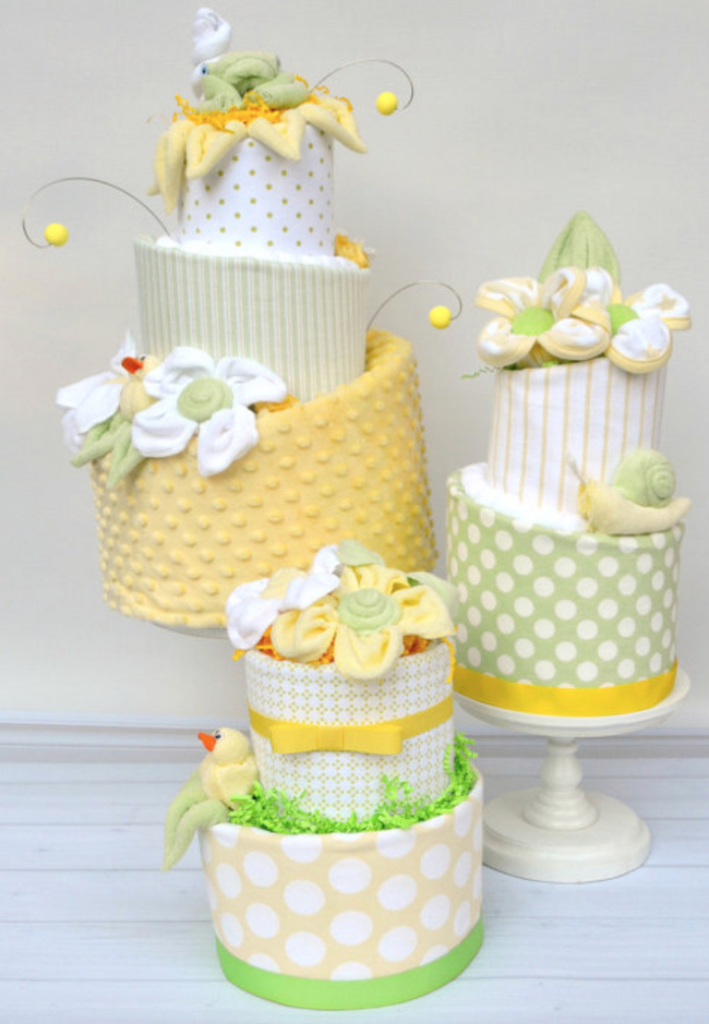 Amazing diaper cakes for baby shower gifts decorations for Baby shower decoration diaper cake