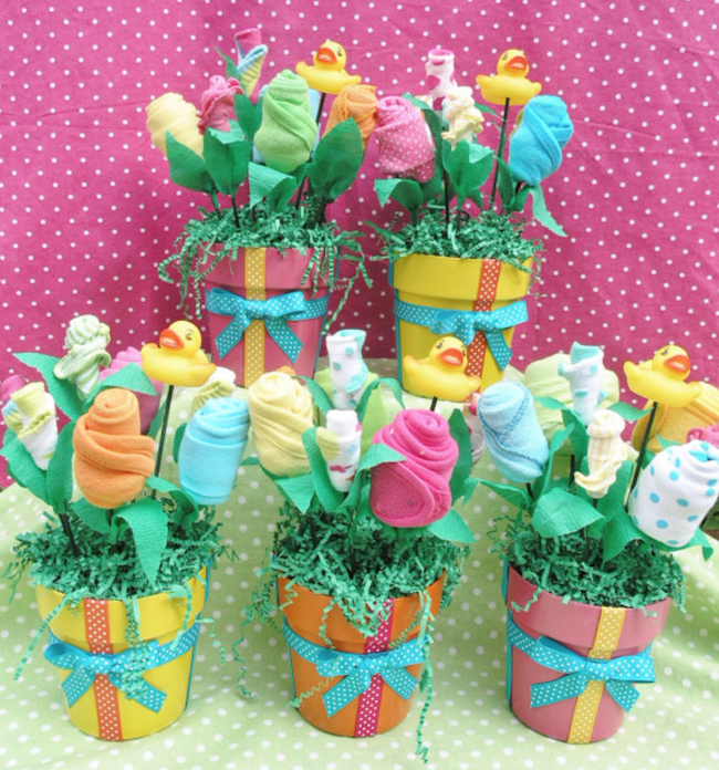baby shower flower bouquet gift