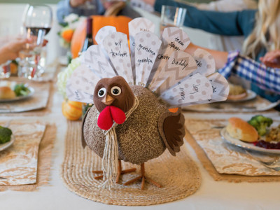 turkey on the table cover