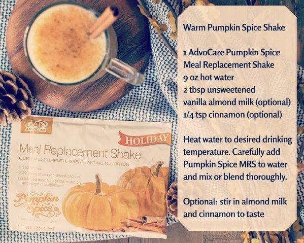 warm pumpkin spice shake