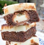 White Chocolate Truffle Stuffed Brownies