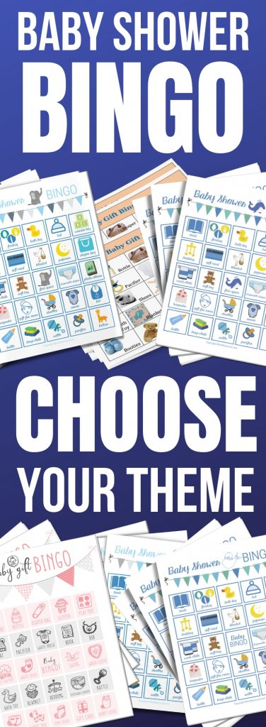 100 different baby shower bingo printable cards in 7 baby shower bingo themes & including free printable game cards. All come with instructions for how to play - a perfect ice breaker for your baby shower. Bingo cards for boy, girl, Spanish and more with cute pictures and words - perfect for all ages.