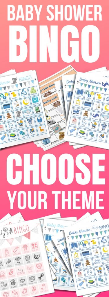 7 baby shower bingo themes to choose from plus free printable game cards. These baby shower bingo cards come in boy, girl, elephant, Spanish and more. All have cute pictures with words - a perfect ice breaker for your guests. This game is pure gold & comes with up to 100 different cards and full instructions for how to play. Have this game on standby for your baby shower - it's fun to play for all ages.