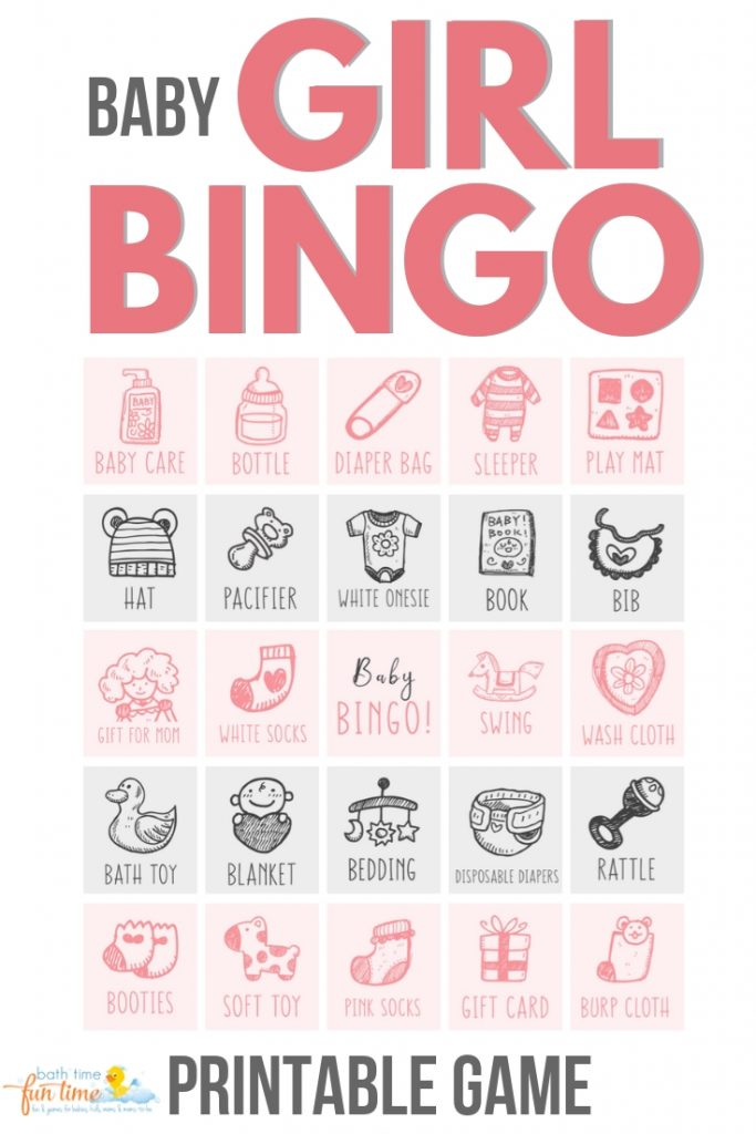 This baby shower bingo GIRL game is perfect for every GIRL baby shower. Your guests will LOVE playing this modern baby shower game - a modern twist on a classic bingo game. Made just for girl baby showers with up to 80 baby shower bingo cards - all unique! #babybingo #babyshowerbingo #babyshowerprintable #babyshowergame #babyshowergames