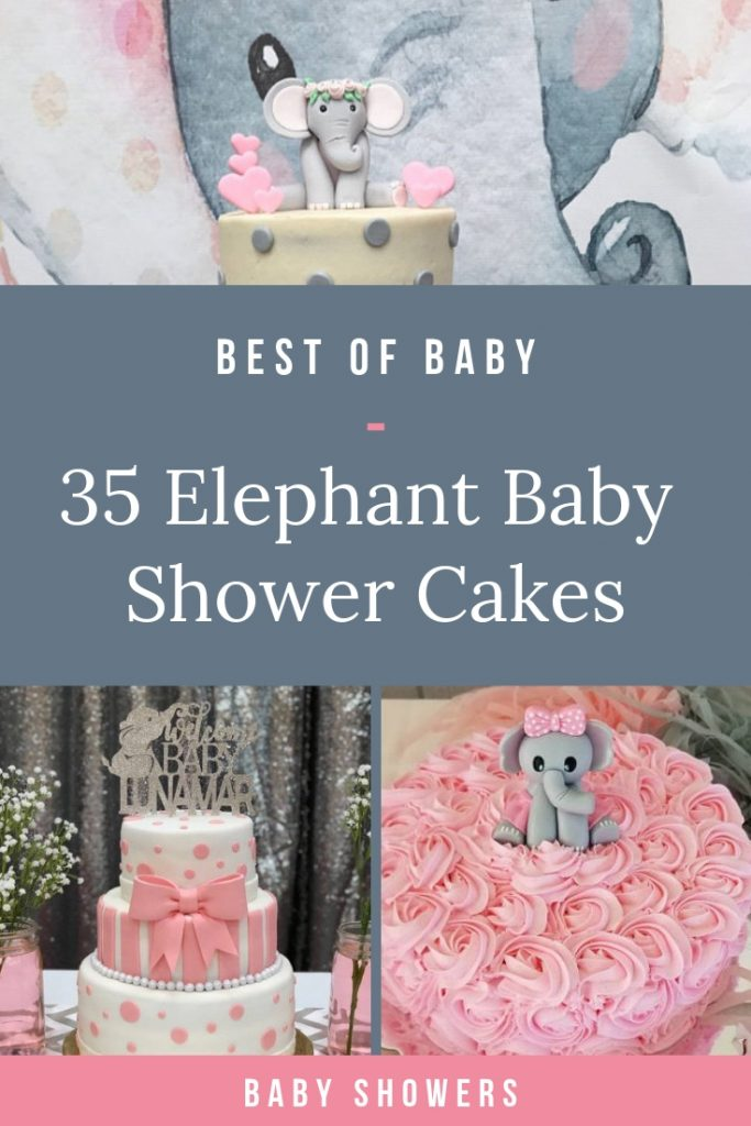 The BEST Elephant Baby Shower Cakes to inspire you for your elephant baby shower theme - including cake toppers, boy elephant, girl elephant & neutral. #elephantbabyshower #babyshowercakes #elephantcake #elephantprintable #pinkelephantshower