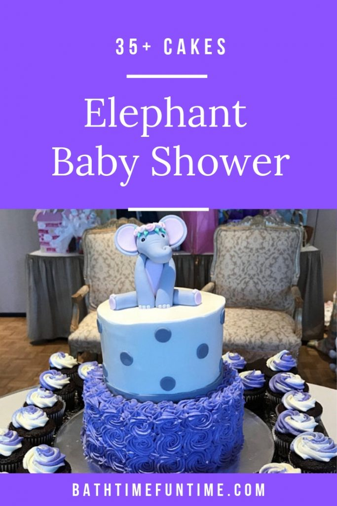 The BEST Elephant Baby Shower Cakes to inspire you for your elephant baby shower theme - including cake toppers, boy elephant, girl elephant & neutral. #elephantbabyshower #babyshowercakes #elephantcake #elephantprintable #purpleelephantshower