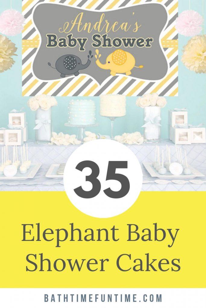 The BEST Elephant Baby Shower Cakes to inspire you for your elephant baby shower theme - including cake toppers, boy elephant, girl elephant & neutral. #elephantbabyshower #babyshowercakes #elephantcake #elephantprintable #yellowbabyshower