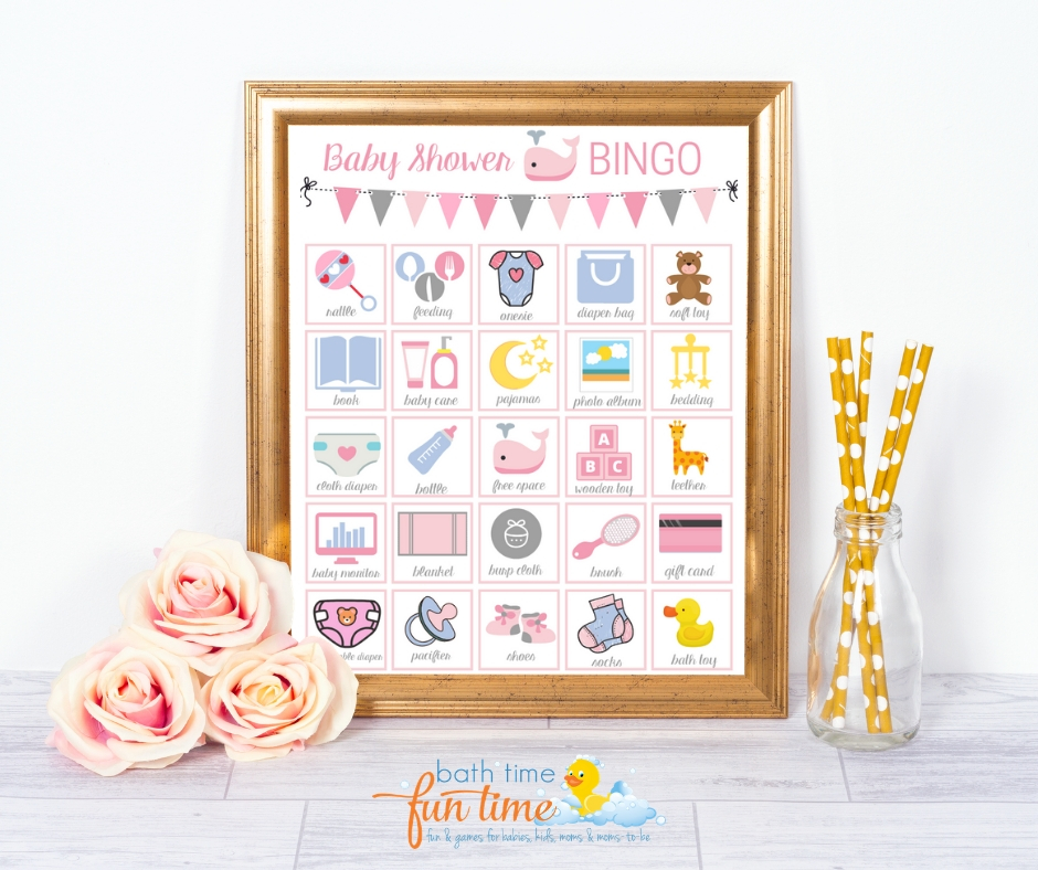 Cute & modern whale baby shower games pink! Printable baby bingo whale game perfect for whale theme baby shower. Super fun baby shower game for your guests - a modern twist on the classic bingo game. Made just for whale baby showers with up to 80 printable baby shower bingo cards - all unique & easily printable for you! #whaleshower #whalebabyshower #babybingo #babyshowerbingo #babyshowerprintable #babyshowergame #babyshowergames