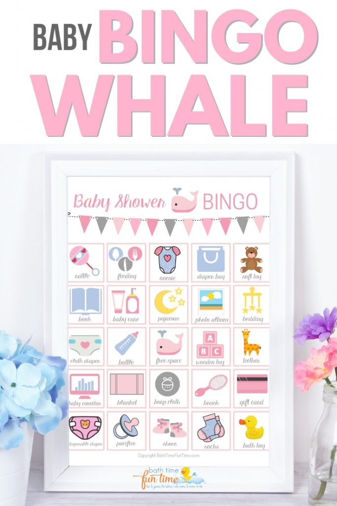 Cute & modern whale baby shower game pink! Printable baby bingo whale game perfect for whale theme baby shower. Super fun baby shower game for your guests - a modern twist on the classic bingo game. Made just for whale baby showers with up to 80 printable baby shower bingo cards - all unique & easily printable for you! #whaleshower #whalebabyshower #babybingo #babyshowerbingo #babyshowerprintable #babyshowergame #babyshowergames