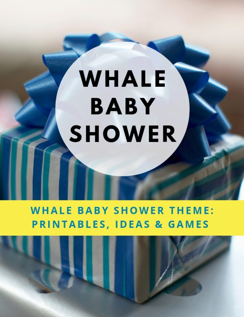 Whale Baby Shower Games - Whale Theme Baby Games For Boys Or