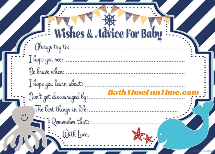 whale baby shower wishes