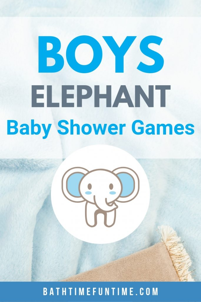 Elephant baby shower games perfect for baby boys or baby girls even if you're not having the entire elephant baby shower theme!