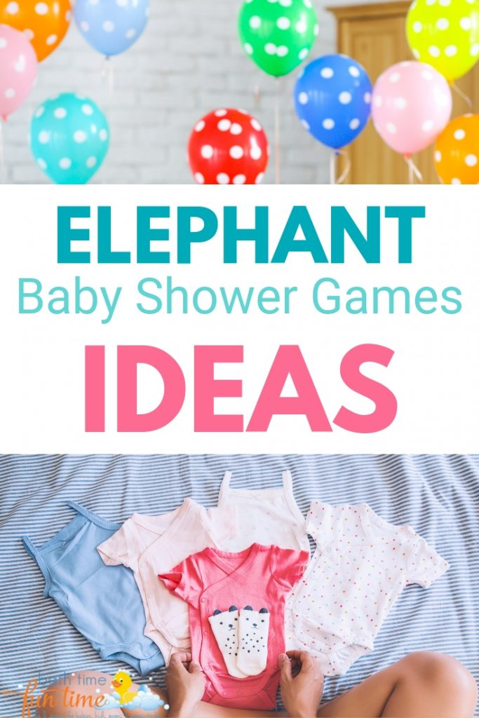 elephant baby shower games ideas