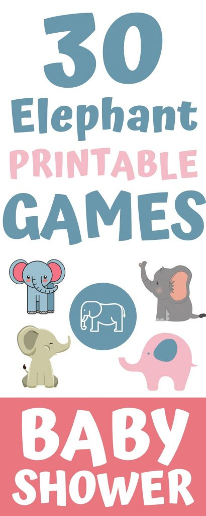 Printably baby shower games