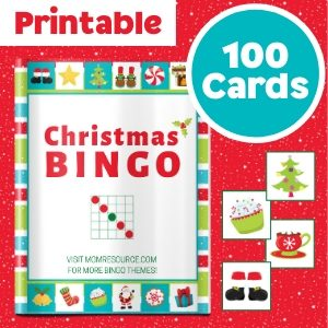 printable christmas bingo cards game