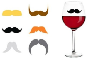 Staches Silicone Drink Markers
