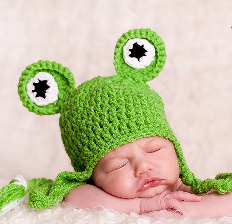 frog hat baby