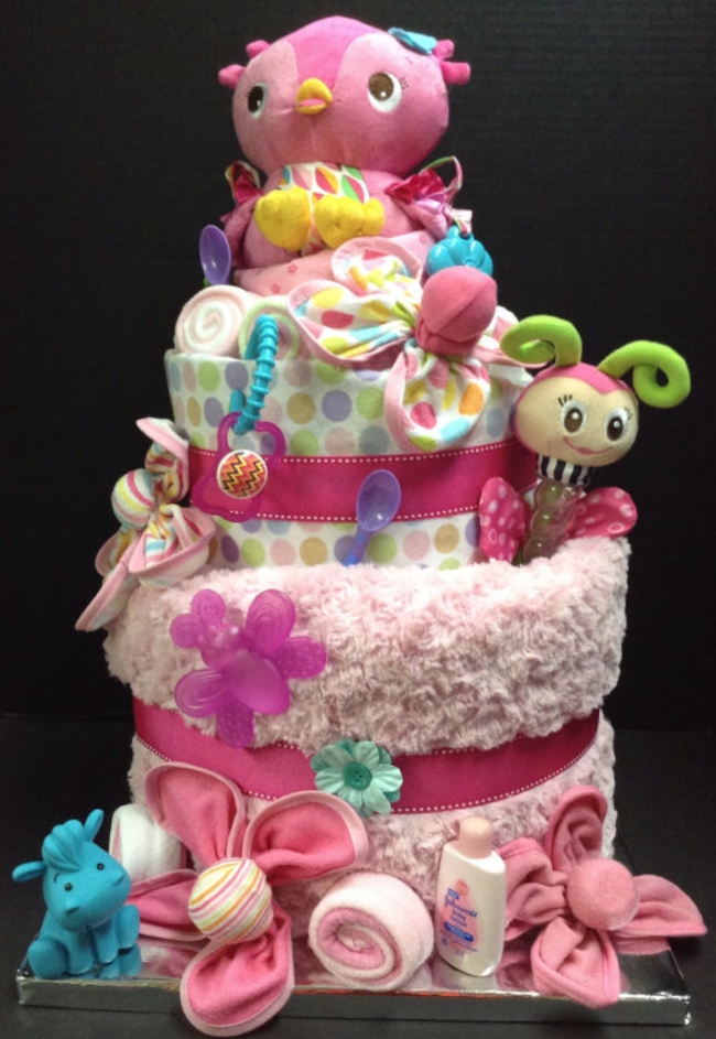 baby shower diaper cake 2