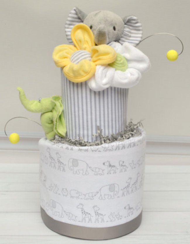 baby shower diaper cake elephant