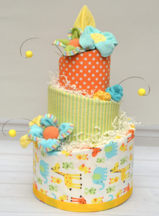 baby shower diaper cake jungle