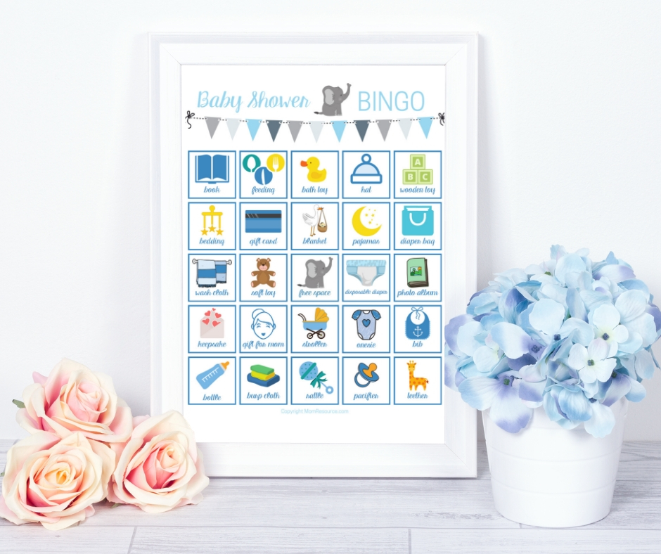 This baby bingo elephant game is perfect for every elephant thee baby shower. Your guests will LOVE this modern & cute baby shower game - a modern twist on a classic bingo game. Made just for elephant baby showers with up to 80 printable baby shower bingo cards - all unique! #babybingo #babyshowerbingo #babyshowerprintable #babyshowergame #babyshowergames