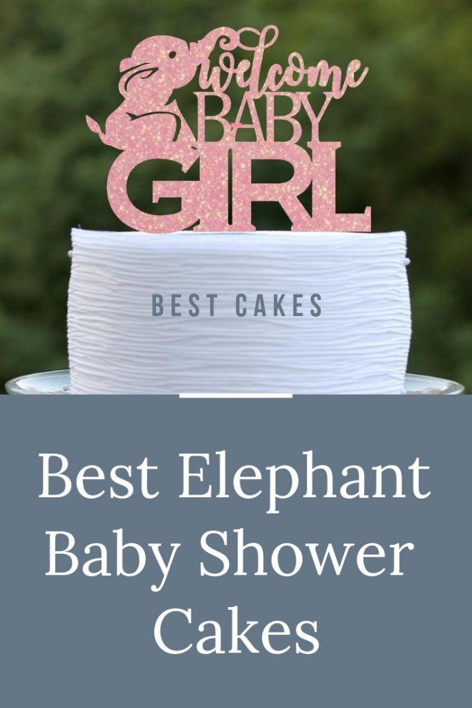 The BEST Elephant Baby Shower Cakes to inspire you for your elephant baby shower theme - including cake toppers, boy elephant, girl elephant & neutral. #elephantbabyshower #babyshowercakes #elephantcake #girlelephantshower #pinkbabyshower #girlbabyshower