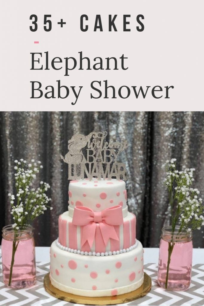 The BEST Elephant Baby Shower Cakes to inspire you for your elephant baby shower theme - including cake toppers, boy elephant, girl elephant & neutral. #elephantbabyshower #babyshowercakes #elephantcake #elephantprintable #elephanttheme #girlelephantshower #pinkbabyshower #girlbabyshower