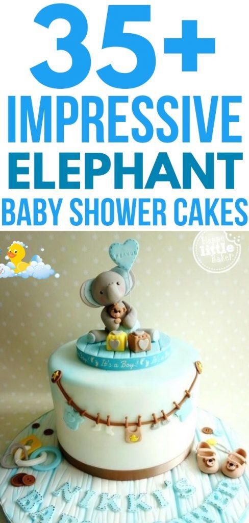 The BEST Elephant Baby Shower Cakes to inspire you for your elephant baby shower theme - including cake toppers, boy elephant, girl elephant & neutral. #elephantbabyshower #babyshowercakes #elephantcake #elephantprintable #elephanttheme