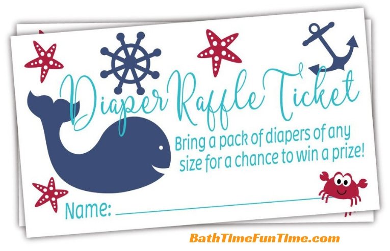 whale baby shower games diaper raffle