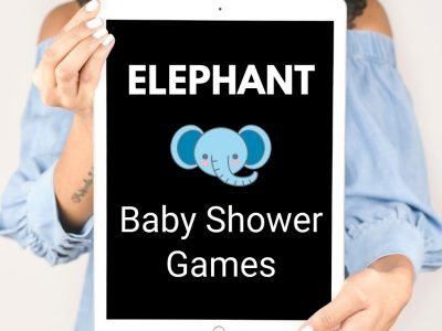 elephant baby shower game ideas