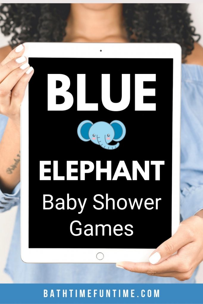 Elephant baby shower games perfect for your elephant baby shower theme or boy baby shower! Perfect for small or large baby showers with up to 80 guests.