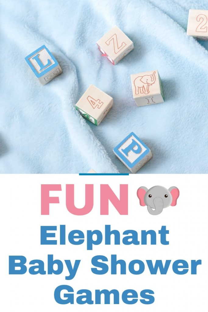 Fun elephant baby shower games perfect for your elephant baby shower theme! Perfect for small or large baby showers with up to 80 guests.