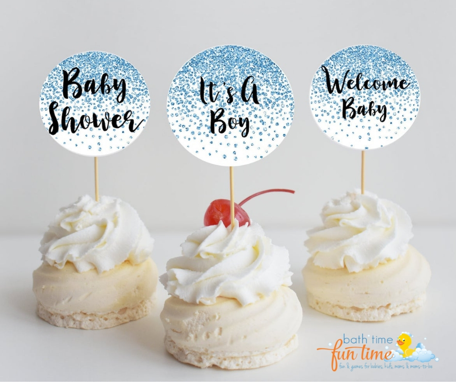 last minute baby shower boy cupcake toppers - Looking for last minute baby shower ideas for boys? These are 22 of the best last minute baby shower ideas - simple & fun so you have a perfect baby shower!