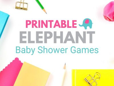 30+ printable baby shower games - funny & cute. Lots of ideas for your perfect elephant baby shower.